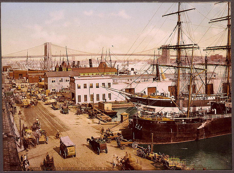 NY1900color03 Нью Йорк 1900 года в цвете