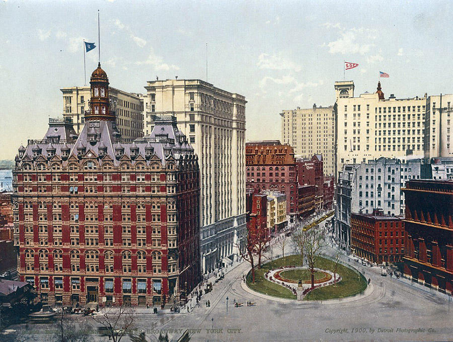 NY1900color04 Нью Йорк 1900 года в цвете