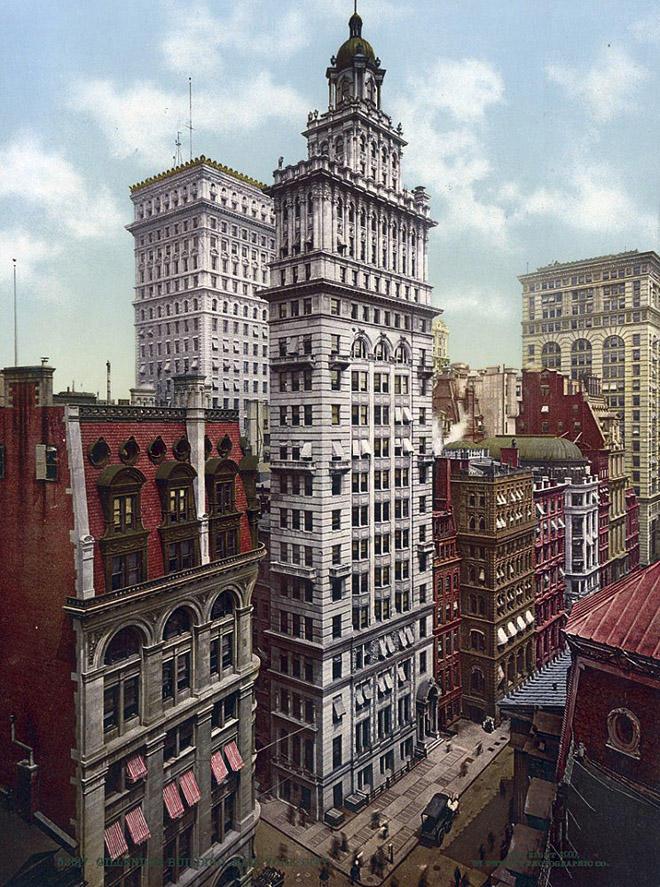 NY1900color07 Нью Йорк 1900 года в цвете
