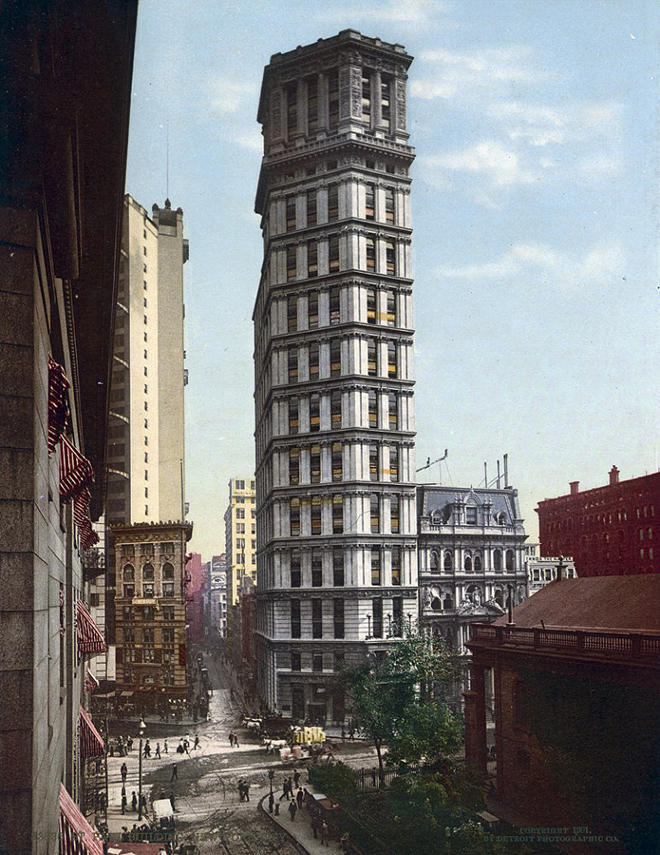 NY1900color09 Нью Йорк 1900 года в цвете