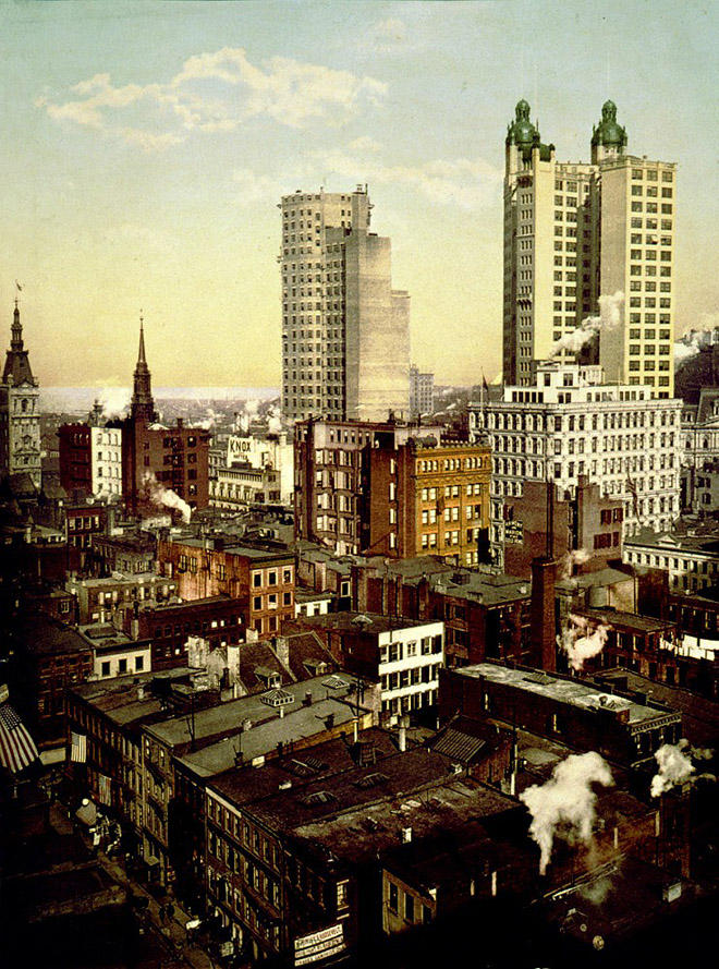 NY1900color10 Нью Йорк 1900 года в цвете