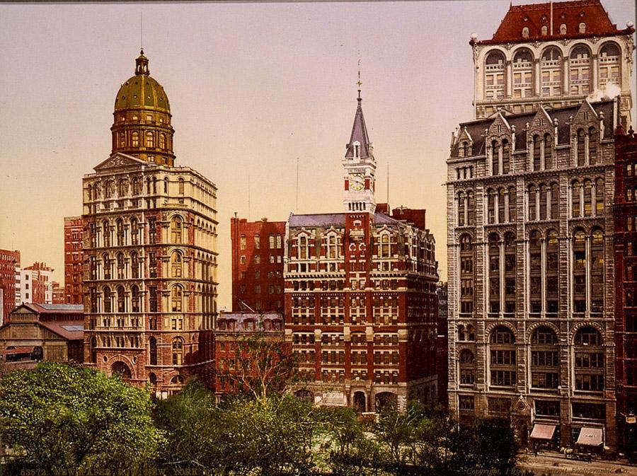 NY1900color11 Нью Йорк 1900 года в цвете