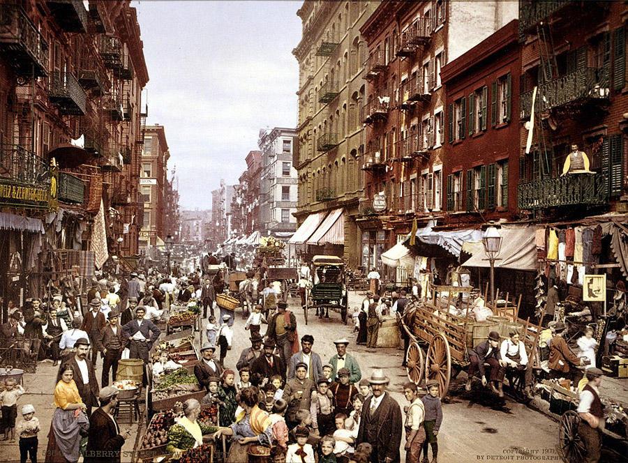 NY1900color13 Нью Йорк 1900 года в цвете