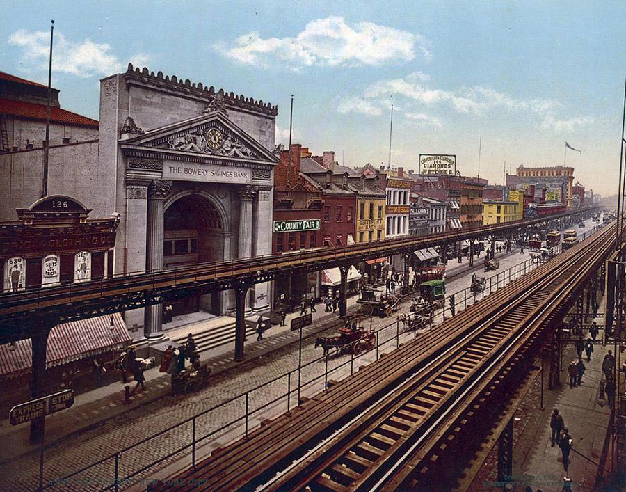 NY1900color16 Нью Йорк 1900 года в цвете
