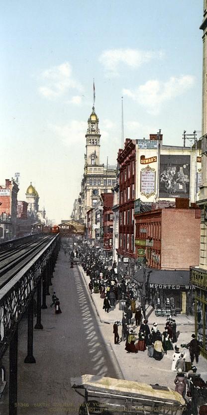 NY1900color17 Нью Йорк 1900 года в цвете