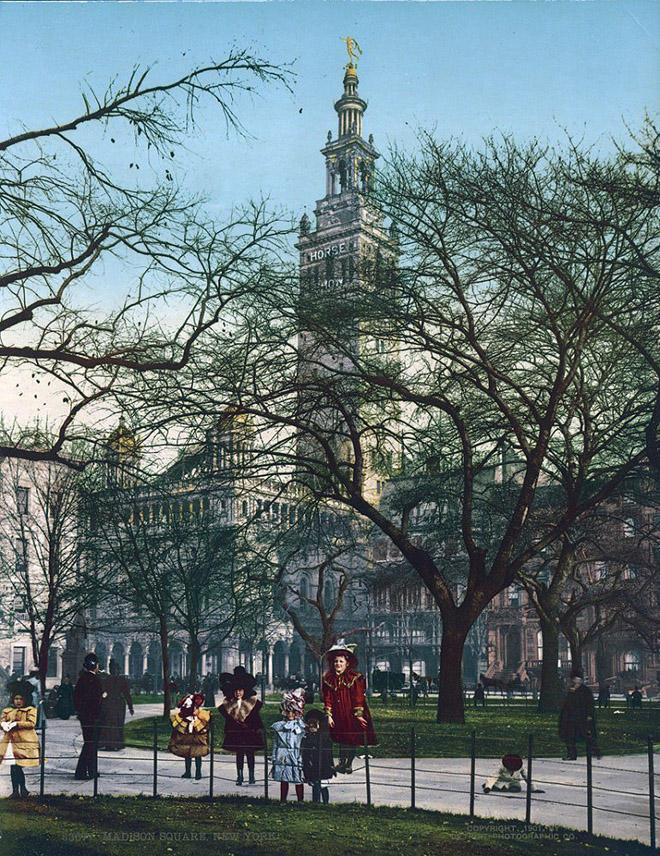 NY1900color18 Нью Йорк 1900 года в цвете