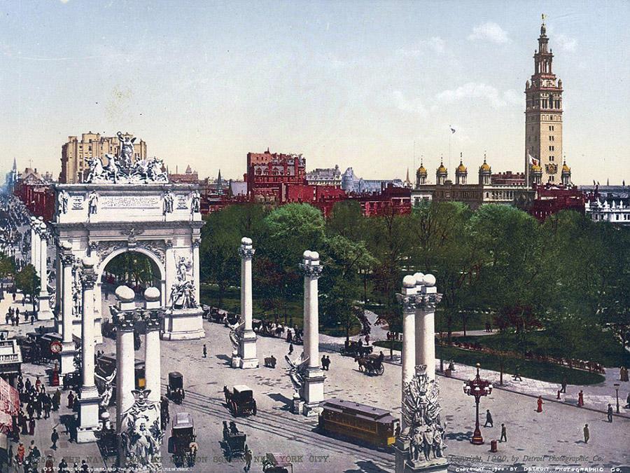NY1900color19 Нью Йорк 1900 года в цвете