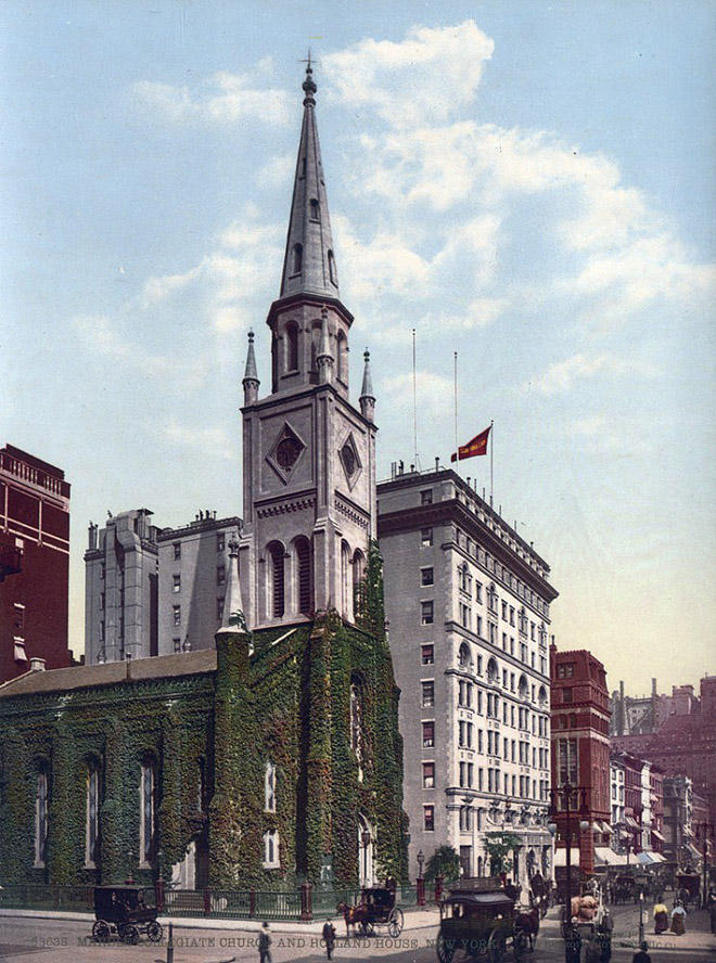 NY1900color20 Нью Йорк 1900 года в цвете