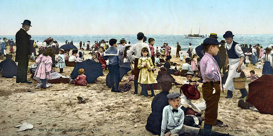 NY1900color31 Нью Йорк 1900 года в цвете