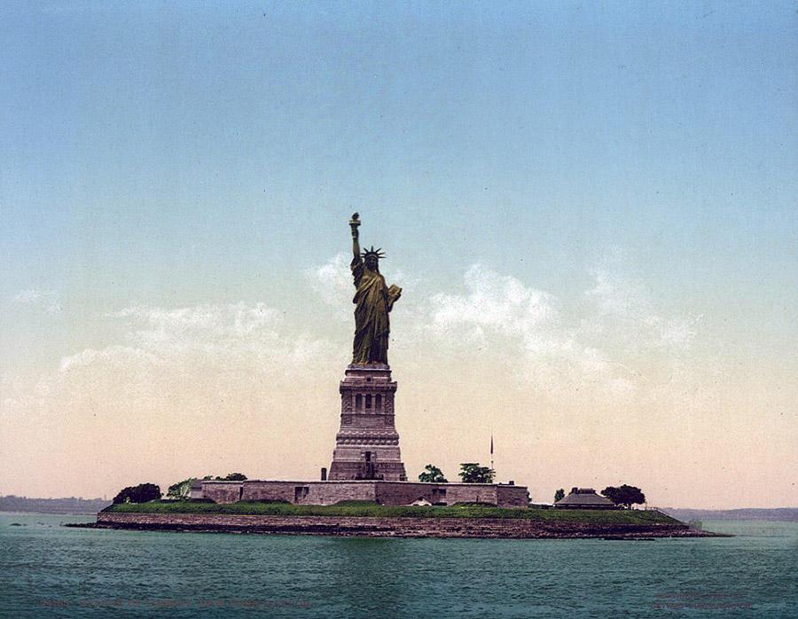 NY1900color34 Нью Йорк 1900 года в цвете