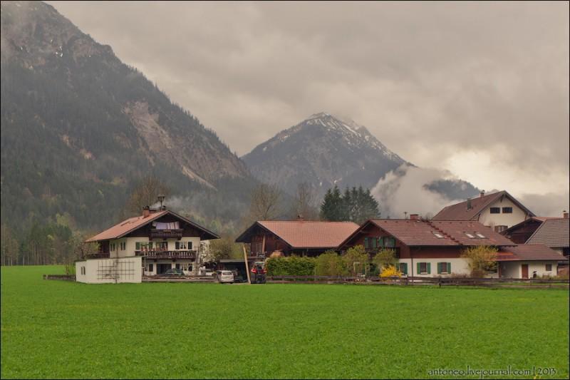 Деревушка в баварских Альпах