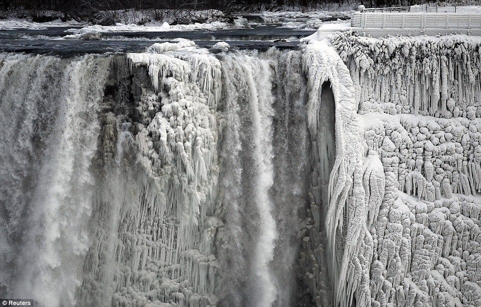 article 0 1A81C46F00000578 247 964x615 10 завораживающих фото замерзшего Ниагарского водопада