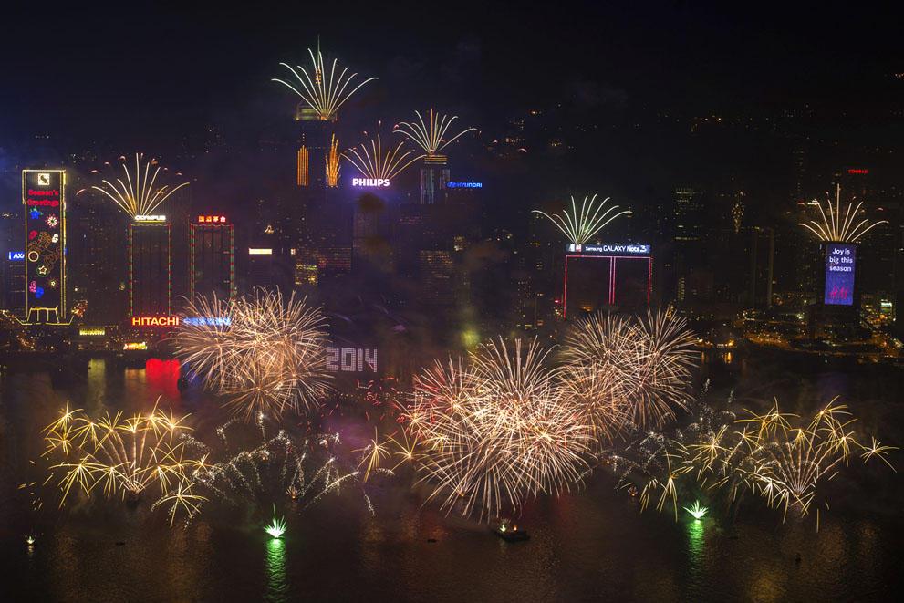 s n04 RTX16Y3P Салюты, пляжи и шампанское   как в мире встретили новый 2014 й год