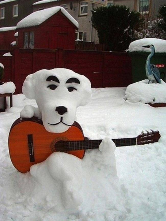 이러한 다른 눈사람 snowmen08