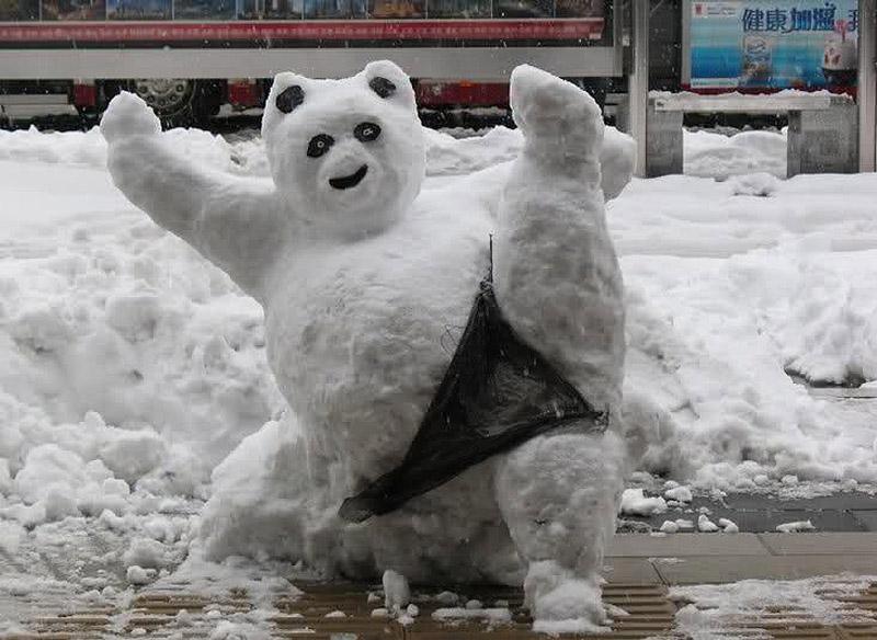이러한 다른 눈사람 snowmen16