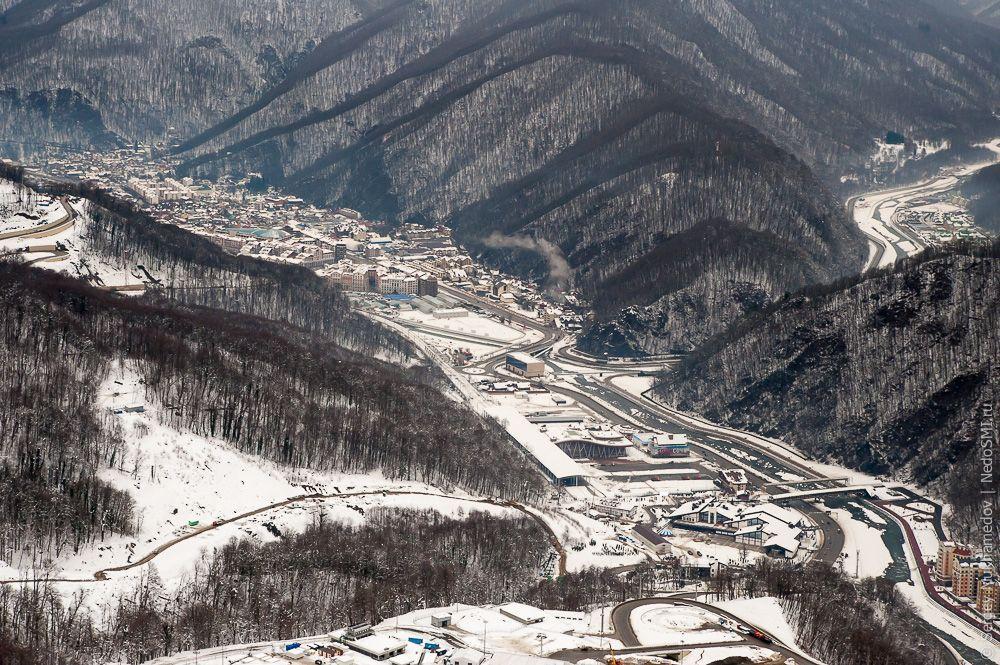 sochi19 Как выглядят Олимпийские объекты с воздуха