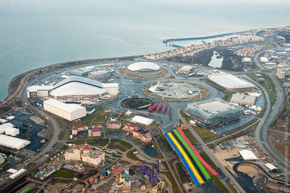 sochi23 Как выглядят Олимпийские объекты с воздуха