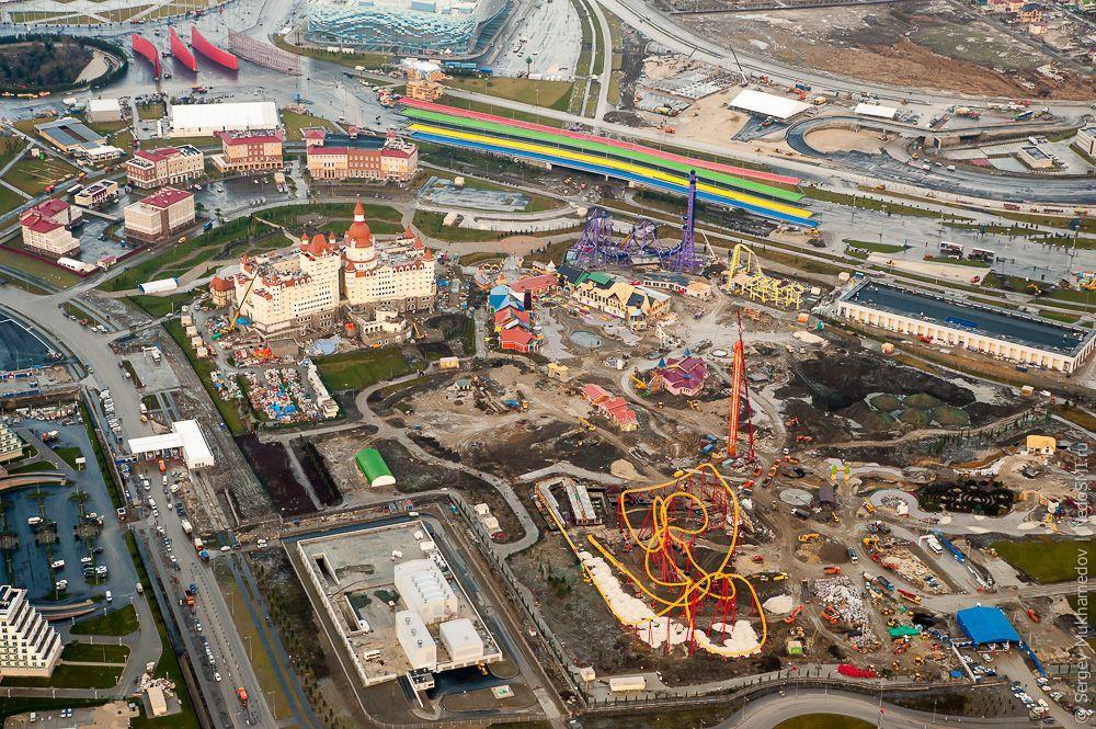 sochi34 Как выглядят Олимпийские объекты с воздуха