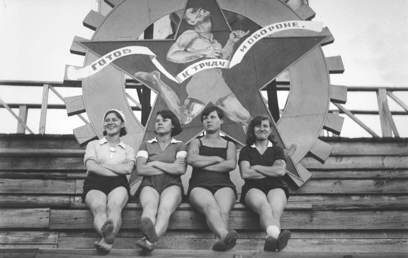 sovietgymnasts14 Спортсменки, комсомолки, красавицы 1930 х