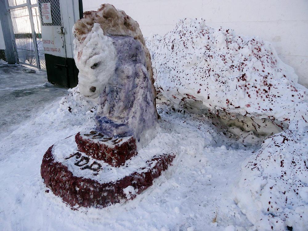 08 competition snow figure3 Снежные скульптуры в исправительных колониях Украины