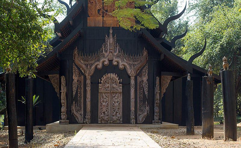 BaanSiDum13 Храм смерти. Черный дом Baan Si Dum. Северный Таиланд