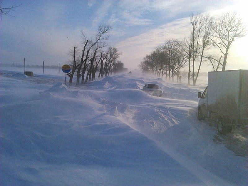 3. Такая картина наблюдается на трассе Таганрог-Ростов-на-Дону.