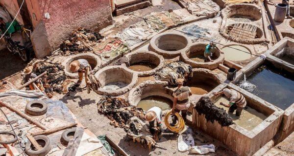 Марокко: Как изготавливают натуральную кожу. Кожевенное производство в Марракеше