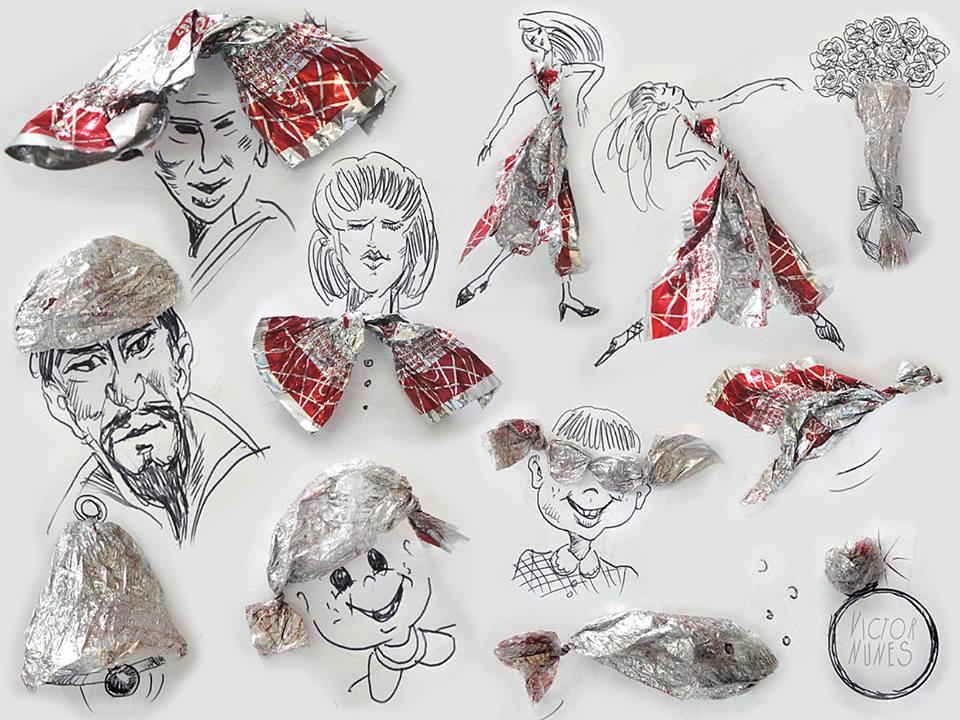 NunesPerez03 Как выглядят рисунки из еды и подручных предметов