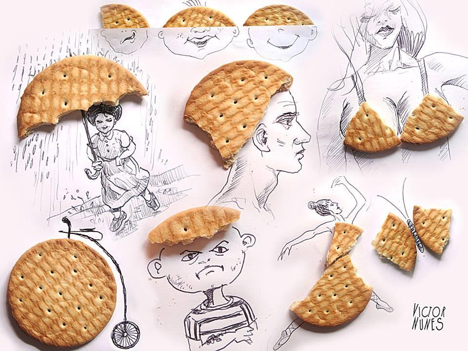 NunesPerez05 Как выглядят рисунки из еды и подручных предметов
