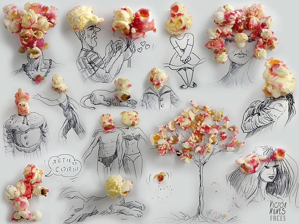 NunesPerez08 Как выглядят рисунки из еды и подручных предметов
