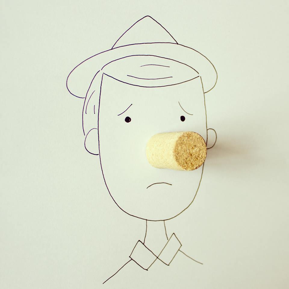 NunesPerez15 Как выглядят рисунки из еды и подручных предметов