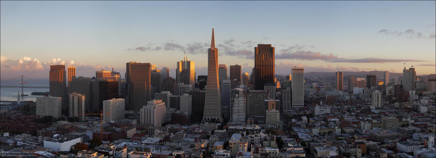 SFpanorama06 Сан Франциско   панорамы города