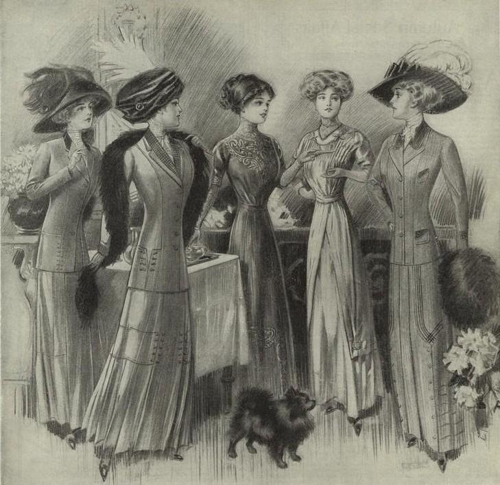 мода 1900 годов в россии