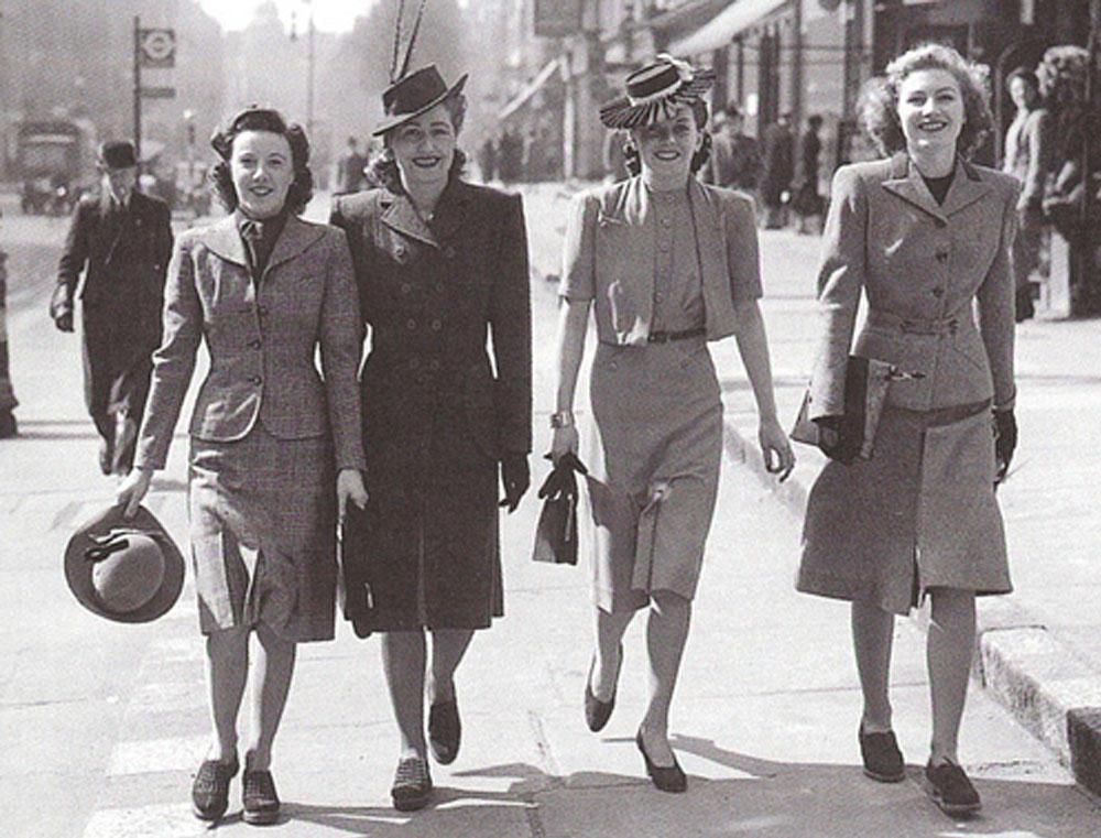 c84523eb34f Доминирующей тенденцией моды начала 40-х годов стали многослойные длинные  юбки
