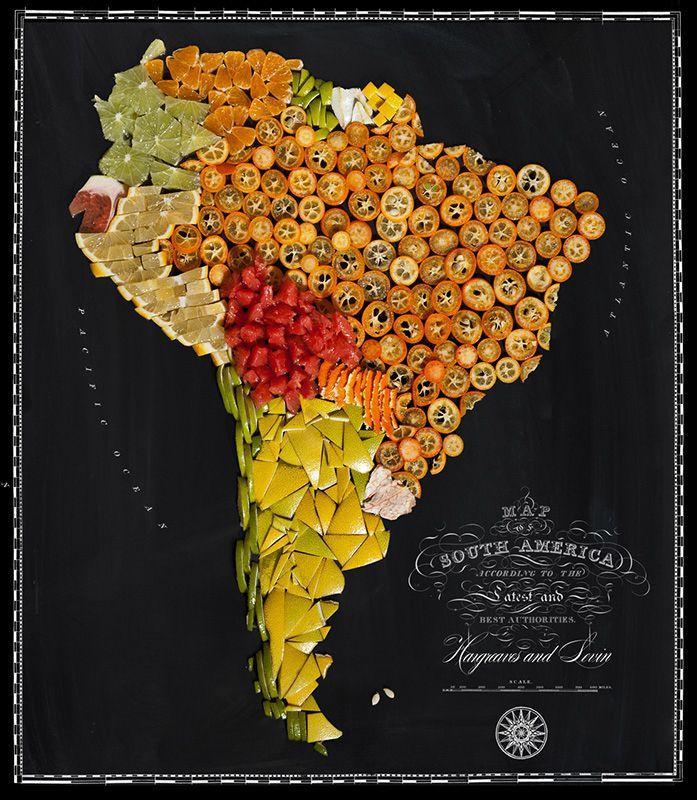 countries07 Аппетитные страны на съедобной карте мира