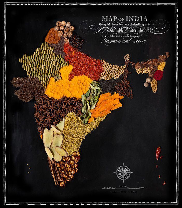 countries08 Аппетитные страны на съедобной карте мира