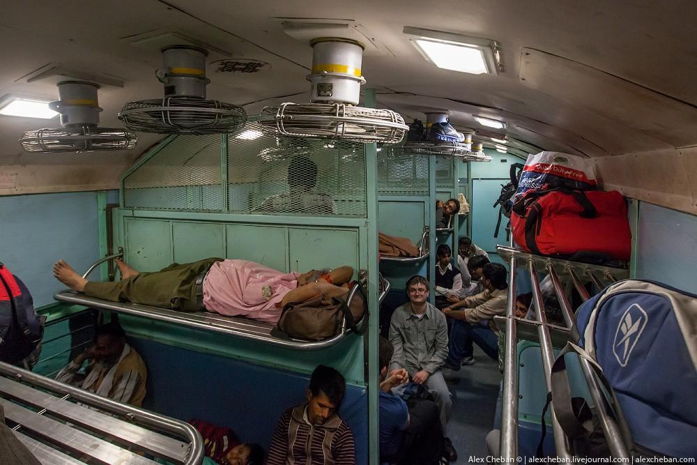 indiantrain04 Общий вагон индийского поезда