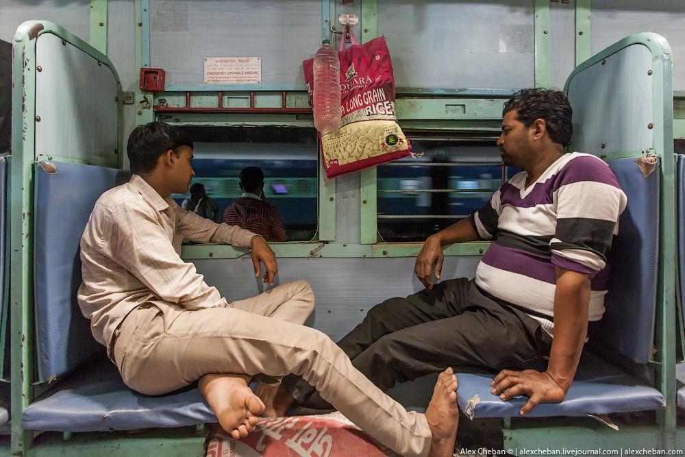 indiantrain05 Общий вагон индийского поезда