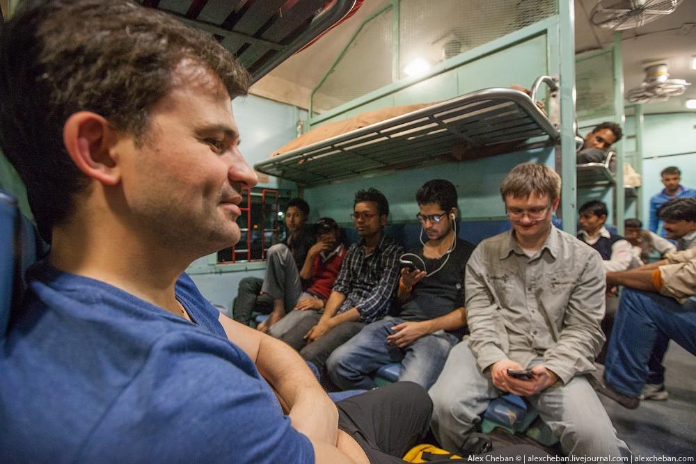 indiantrain06 Общий вагон индийского поезда