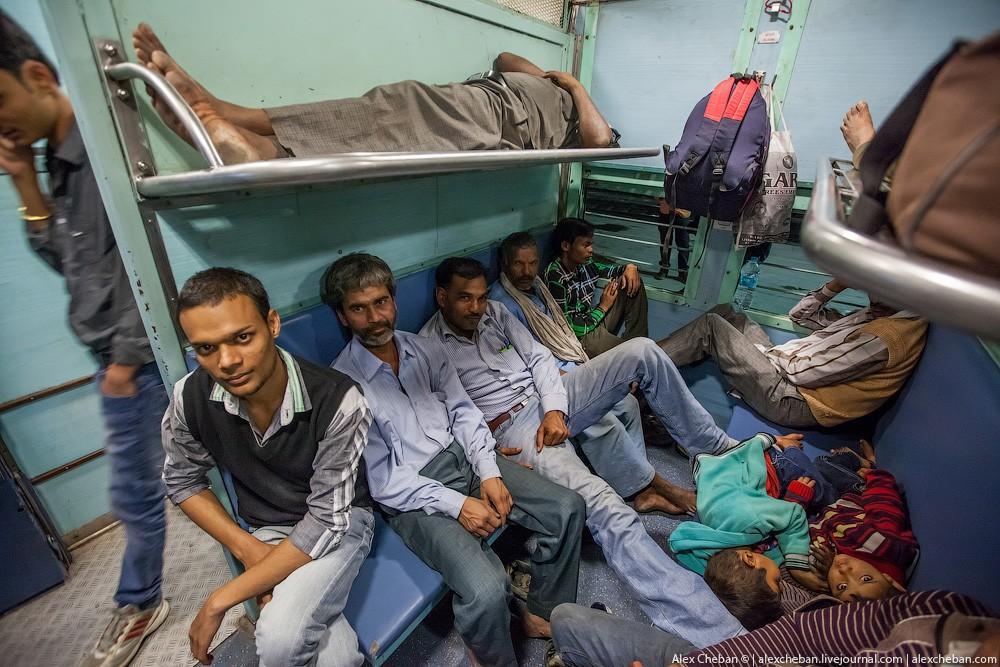indiantrain07 Общий вагон индийского поезда