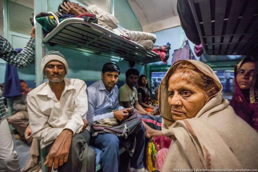 indiantrain08 Общий вагон индийского поезда