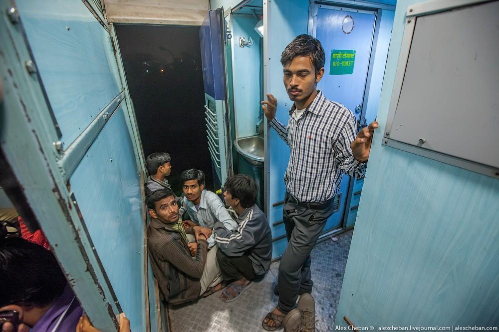 indiantrain13 Общий вагон индийского поезда