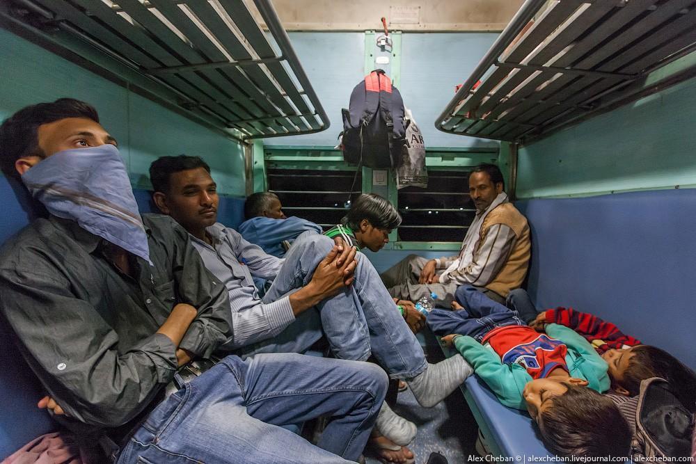 indiantrain17 Общий вагон индийского поезда