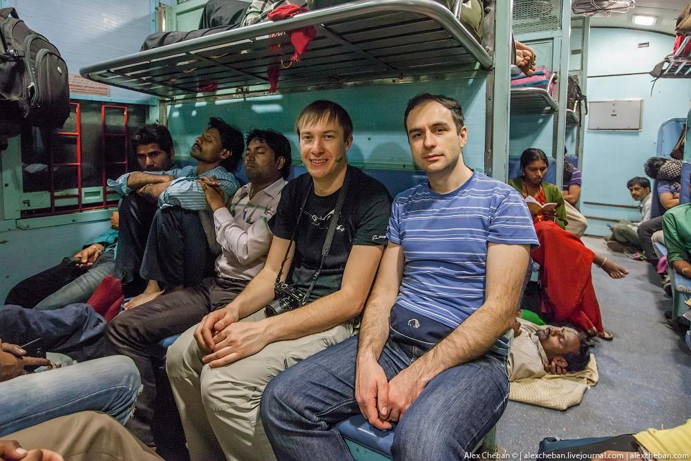 indiantrain20 Общий вагон индийского поезда
