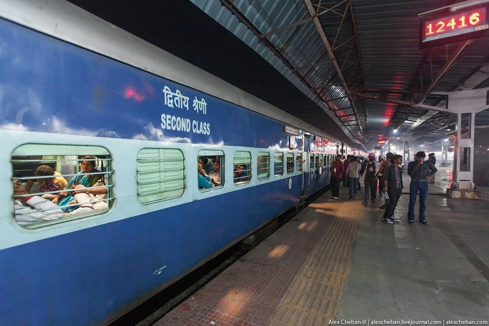 indiantrain23 Общий вагон индийского поезда