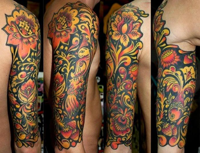 russian style tattoo11 Сугубо славянские татуировки