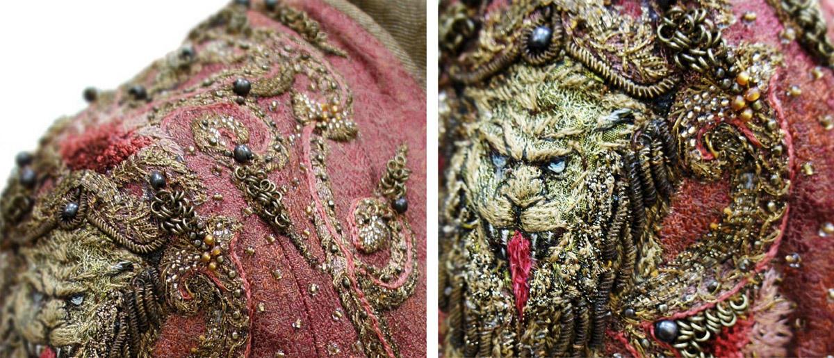 04 collage cersei lion detail1 Поразительные детали костюмов Игры престолов