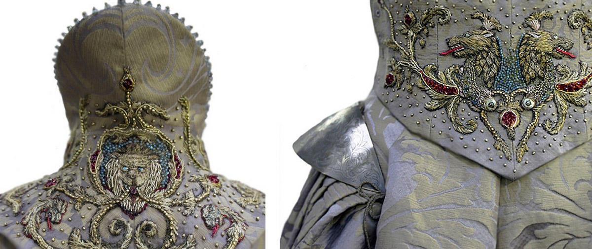 14 collage sansa wedding2 Поразительные детали костюмов Игры престолов