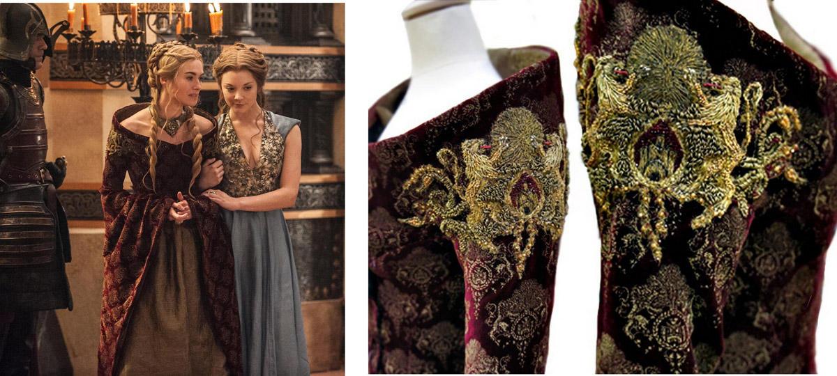 16 collage cersei wedding Поразительные детали костюмов Игры престолов