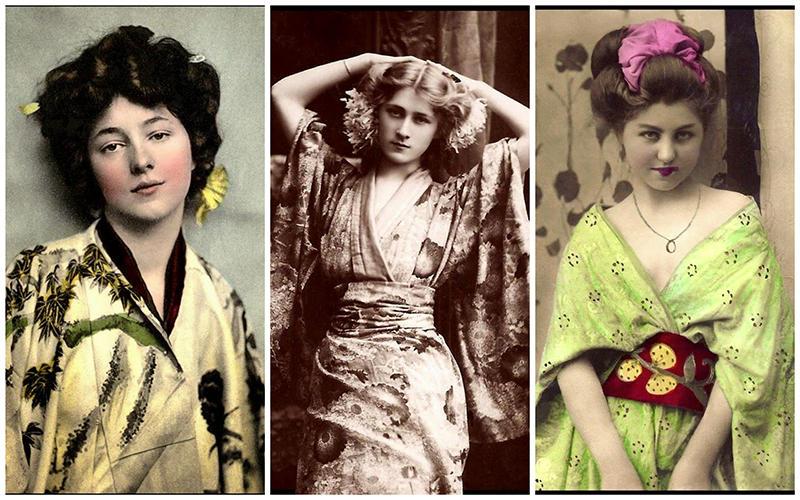 BIGPIC5 Гейши иностранки в Японии начала 20 го века